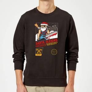Santa Sleighs - Black Sweatshirt