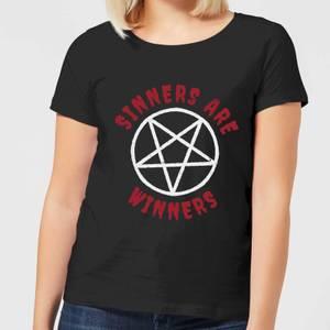 Sinners are Winners Women's T-Shirt - Black