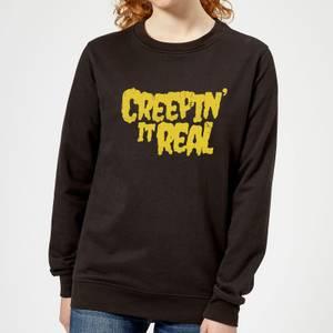 Creepin it Real Women's Sweatshirt - Black