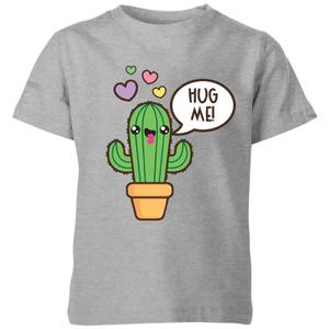 My Little Rascal Hug Me Cactus Kids' T-Shirt - Grey