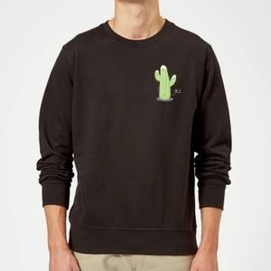 Cactus Fairy Lights Sweatshirt - Black