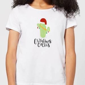 Christmas Cactus Women's T-Shirt - White