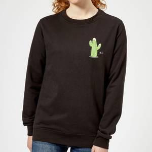 Cactus Fairy Lights Women's Sweatshirt - Black