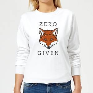 Zero Fox Given Women's Sweatshirt - White