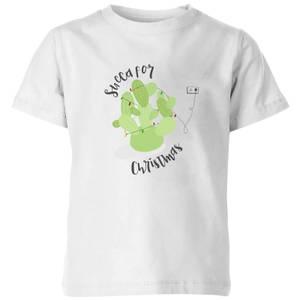 Succa For Christmas Kids' T-Shirt - White
