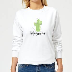 Merry Cactus Women's Sweatshirt - White