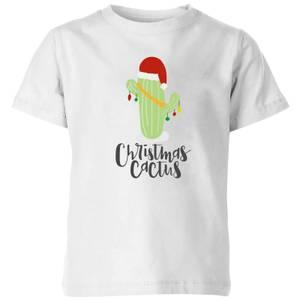 """Camiseta Navidad """"Christmas Cactus"""" - Niño - Blanco"""