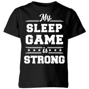 My Little Rascal My Sleep Game is Strong Kids' T-Shirt - Black