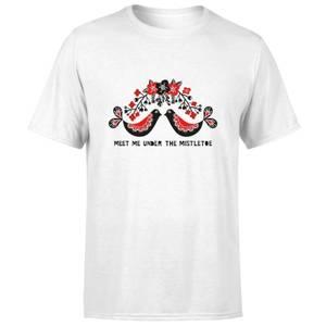 Meet Me Underneath The Mistletoe T-Shirt - White