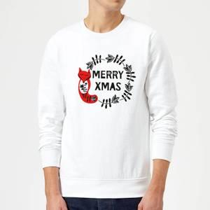 Merry Christmas Sweater - White
