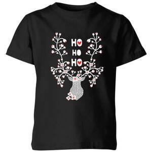 Ho Ho Ho Kids' T-Shirt - Black
