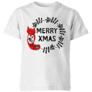 Merry Christmas Kids' T-Shirt - White