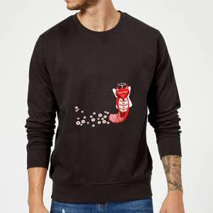 Flower Fox Sweatshirt - Black