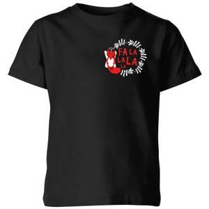 Fa La La La La Kids' T-Shirt - Black