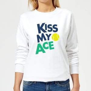 Kiss my Ace Women's Sweatshirt - White