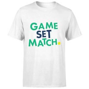 Game Set Match T-Shirt - White