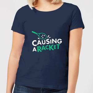 Causing a Racket Women's T-Shirt - Navy