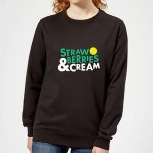Strawberries and Cream Women's Sweatshirt - Black