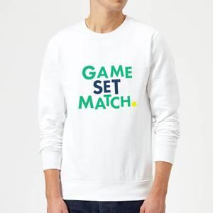 Game Set Match Sweatshirt - White