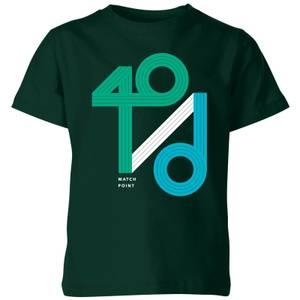 40 / d Match Point Kids' T-Shirt - Forest Green