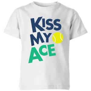 Kiss my Ace Kids' T-Shirt - White