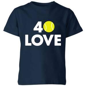 40 Love Kids' T-Shirt - Navy