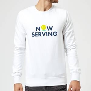 Now Serving Sweatshirt - White