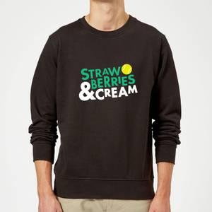 Strawberries and Cream Sweatshirt - Black