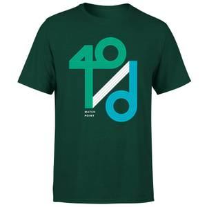 40 / d Match Point T-Shirt - Forest Green