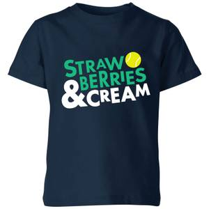 Strawberries and Cream Kids' T-Shirt - Navy