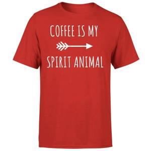 Coffee is my Spirit Animal T-Shirt - Red