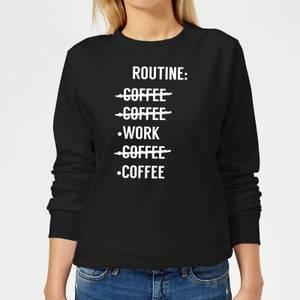 Coffee Routine Women's Sweatshirt - Black