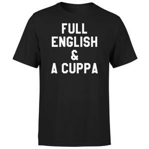 Full English and a Cuppa T-Shirt - Black