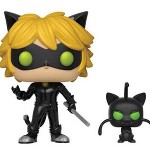 Miraculous Cat Noir with Plagg with Buddy Funko Pop! Vinyl