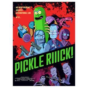 Rick & Morty Pickle Rick Lithograph Print von Serban Cristescu (45cm x 61cm) – Zavvi Exclusive nur 300 Auflagen
