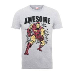 Marvel Comics Iron Man Awesome Men's Grey T-Shirt
