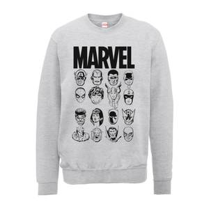 Sweat Homme Têtes Multiples - Marvel - Gris