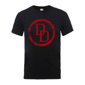 Marvel Comics Daredevil Distressed Circle Logo Männer T-Shirt - Schwarz