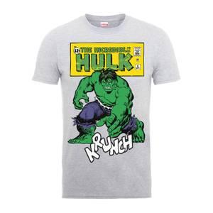 T-Shirt Homme Krunch Abîmé - Incroyable Hulk - Marvel Comics - Gris
