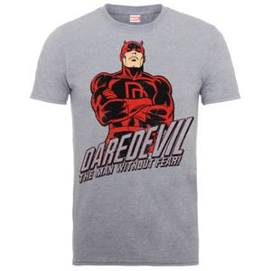 Marvel Comics Daredevil The Man Without Fear Heren T-shirt - Grijs