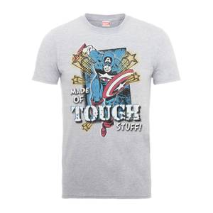 Marvel Comics Captain America Made Of Tough Stuff Men's Grey T-Shirt