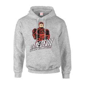Marvel Comics Daredevil The Man Without Fear Men's Grey Pullover Hoodie