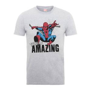 T-Shirt Homme Totally Amazing - Spider Man - Marvel Comics - Gris