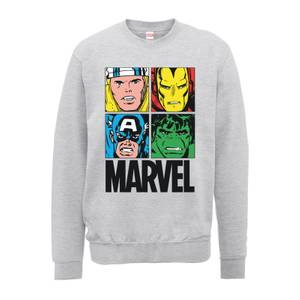 Sweat Homme Multicolore - Marvel - Gris
