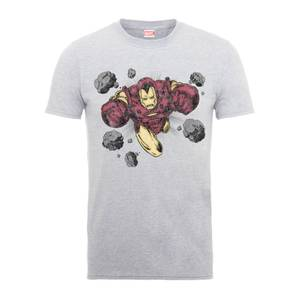 Marvel Comics Iron Man Rocks Men's Grey T-Shirt