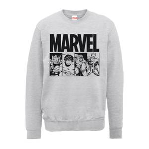 Felpa Marvel Comics Action Tiles Grey - Uomo