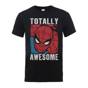 T-Shirt Homme Totally Awesome - Spider Man - Marvel Comics - Noir