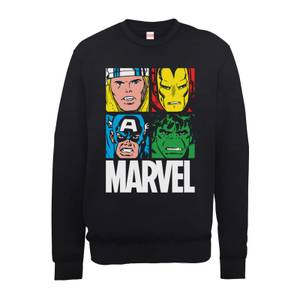 Sweat Homme Multicolore Pullover - Marvel - Noir