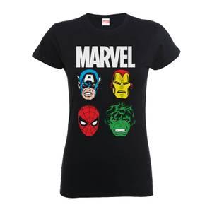 T-Shirt Homme Personnages Principaux Femme - Marvel Comics - Noir