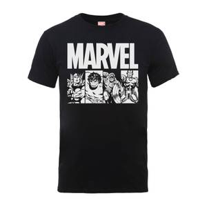 Marvel Comics Action Tiles Männer T-Shirt - Schwarz